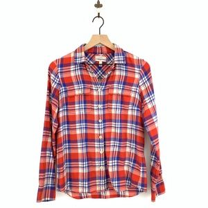 J.Crew Boy Button Down Shirt In Red Plaid Size 4